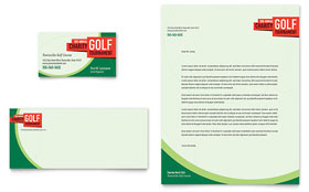Golf Tournament - Business Card & Letterhead Template
