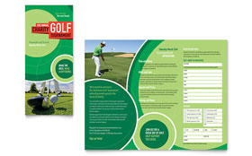 Golf Tournament - Microsoft Word Tri Fold Brochure Template
