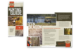 Hunting Guide - Tri Fold Brochure Template