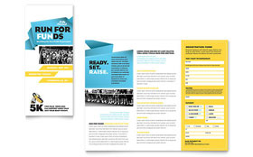 Charity Run - Tri Fold Brochure