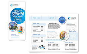 Community Swimming Pool - Brochure Template