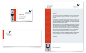 Computer Software Company - Business Card & Letterhead Template