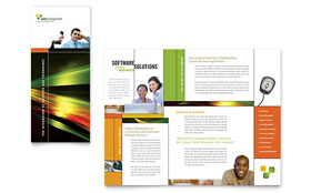 Internet Software - Desktop Publishing Brochure Template