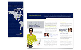 Global Communications Company - Business Marketing Brochure