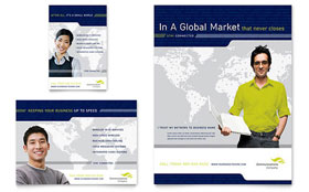 Global Communications Company - Flyer & Ad
