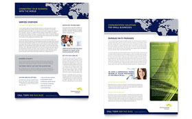Global Communications Company - Sales Sheet