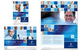 Technology Consulting & IT - Flyer & Ad Template