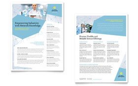 Global Network Services - Sales Sheet Template