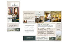 Bed & Breakfast Motel - Tri Fold Brochure Template
