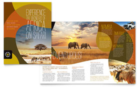 African Safari - Brochure Template