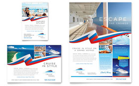 Cruise Travel - Print Ad Template