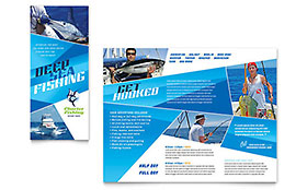 Fishing Charter & Guide - Brochure Template