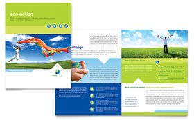 Green Living & Recycling - Apple iWork Pages Brochure Template