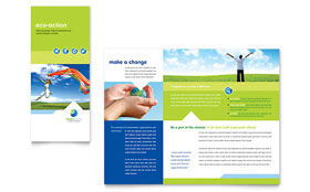 Green Living & Recycling - Microsoft Word Tri Fold Brochure
