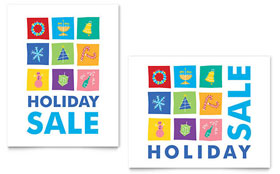 Holiday Icons - Sale Poster