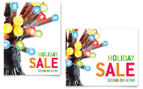 Christmas Lights - Sale Poster