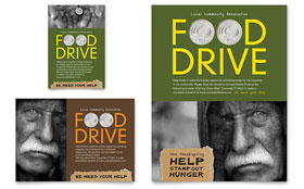 Holiday Food Drive Fundraiser - Flyer & Ad Template