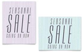 Snow Bird - Sale Poster Template