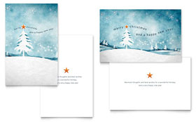 Winter Landscape - Greeting Card Template