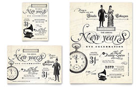 Vintage New Year's Party - Flyer & Ad