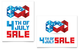 July 4th Patriotic - Sale Poster Template
