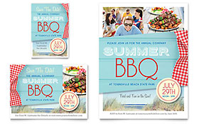 Summer BBQ - Flyer & Ad Template